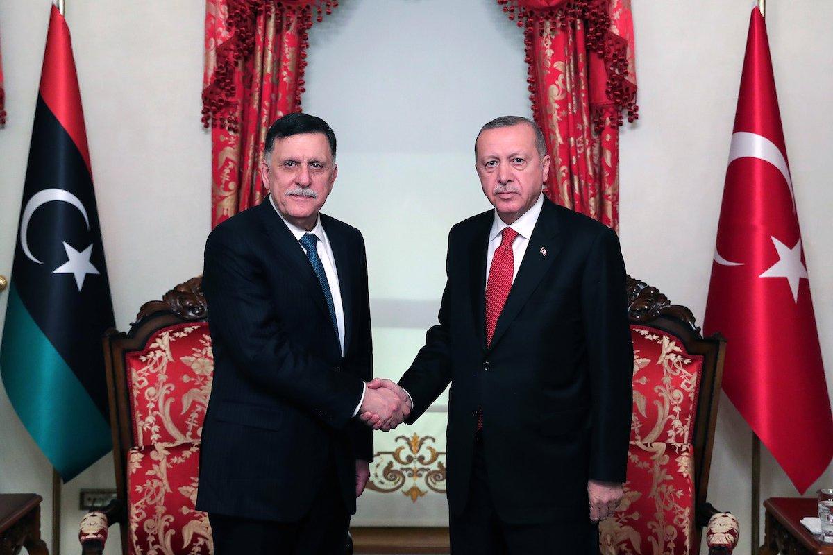أردوغان والسراج- إرشيفية