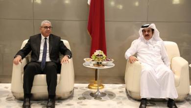 صورة وزير داخلية الوفاق فتحي باشاغا يصل إلى قطر