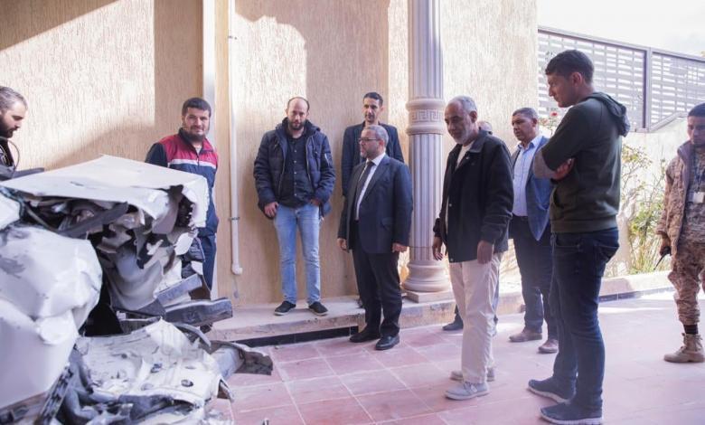 المشري يتفقد مواقع التفجيرات في مدينة الزاوية