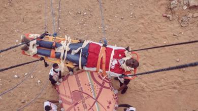 صورة الهلال الأحمر غات ينفذ مناورة تدريبية لعمليات الإنقاذ