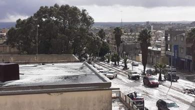 Photo of عاصفة باردة تضرب مناطق الجبل الأخضر (صور)