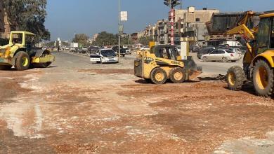 بلدية بنغازي تشرع في رصف شوارع المدينة