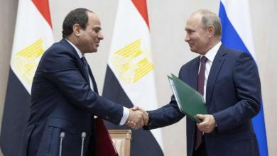 صورة بوتين والسيسي يتفقان على وضع حد للتدخلات الخارجية في ليبيا