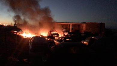 "Photo of النيران تأتي على محل ""رابش"" في بدر"