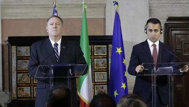 """صورة دي مايو: """"نعمل بلا كلل"""" لوقف إطلاق النار في ليبيا"""