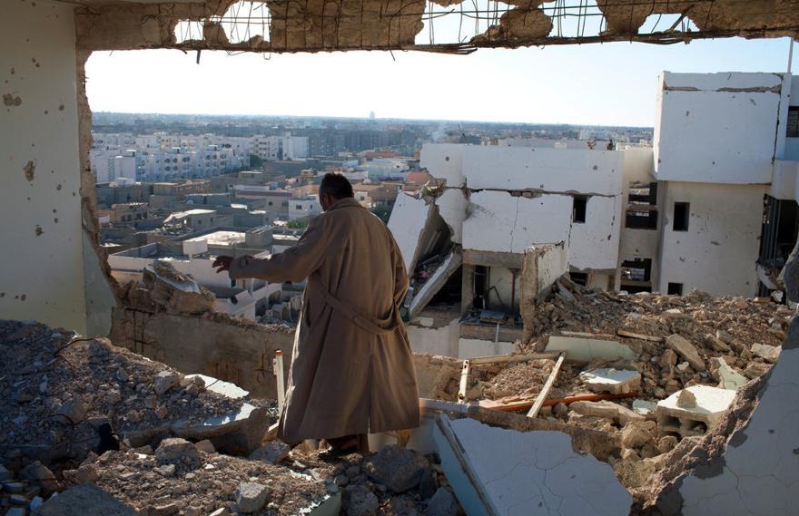 جانب من قصف قوات الناتو لمنشآت ليبية إبان ثورة فبراير 2011