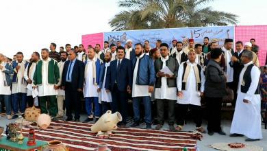 Photo of بالصور.. حفل زواج لـ40 شابا من مدينة أوجلة