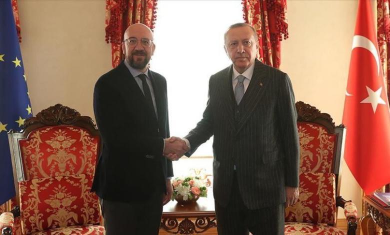 رئيس المجلس الأوروبي وأردوغان