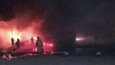صورة سقوط طائرة حربية جزائرية ومقتل طاقمها