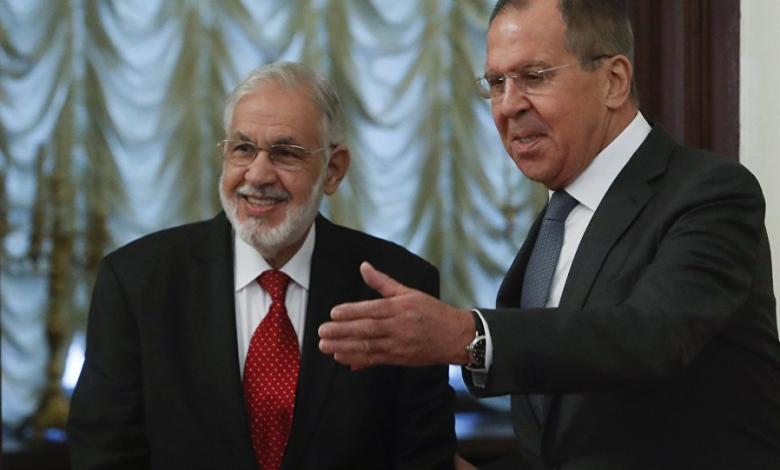 وزير الخارجية الروسي سيرغي لافروف ووزير خارجية حكومة الوفاق محمد سيالة