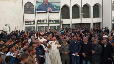 Photo of مظاهرات حاشدة بقصر بن غشير ضد التدخل التركي