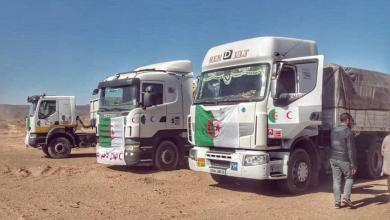 صورة الهلال الأحمر غات يستلم شحنة مساعدات إنسانية من الجزائر