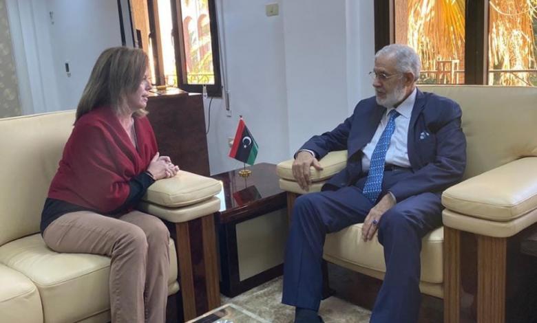 وزير خارجية الوفاق محمد سيالة يستقبل ستيفاني وليامز ويرحبان بالمبادرة الروسية التركية لوقف إطلاق النار
