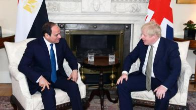 "Photo of توافق مصري بريطاني على ""حل شامل"" للأزمة الليبية"