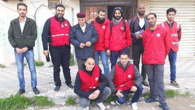 Photo of وصول أعضاء غرفة الطوارئ بالهلال الأحمر الليبي إلى مدينة الزاوية
