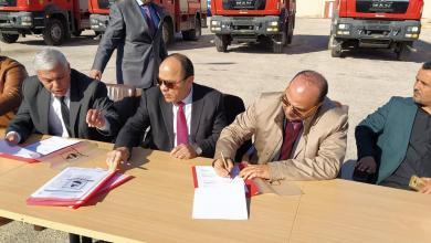 Photo of شركة الخليج العربي للنفط تُزود بلدية بنغازي بـ 5 سيارات إطفاء