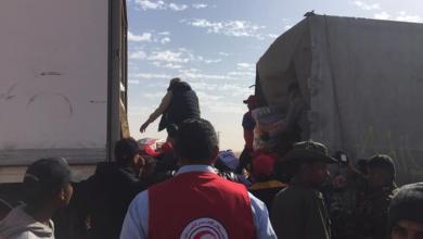 """Photo of """"هلال أحمر غدامس"""" يحصر ليوزع 100 طن من المساعدات الجزائرية"""