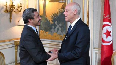 """Photo of """"الأزمة الليبية"""" محور لقاء الرئيس التونسي مع وزير الخارجية الإماراتي"""