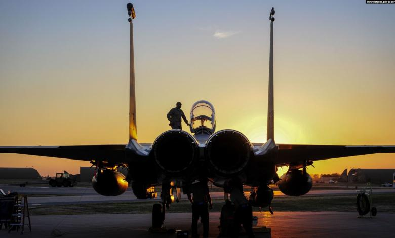 طائرة حربية أميركية في قاعدة إنجرليك العسكرية التركية - صورة عن قناة الحرة