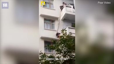 صورة فيديو يحبس الأنفاس لجدة تغامر بحفيدها في مهمة خطيرة