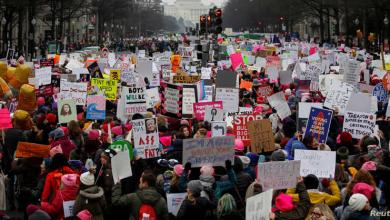 Photo of مسيرات نسائية في أمريكا ضد سياسات ترامب