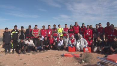 Photo of الزنتان .. تمرين ميداني لمنتسبي الهلال الأحمر