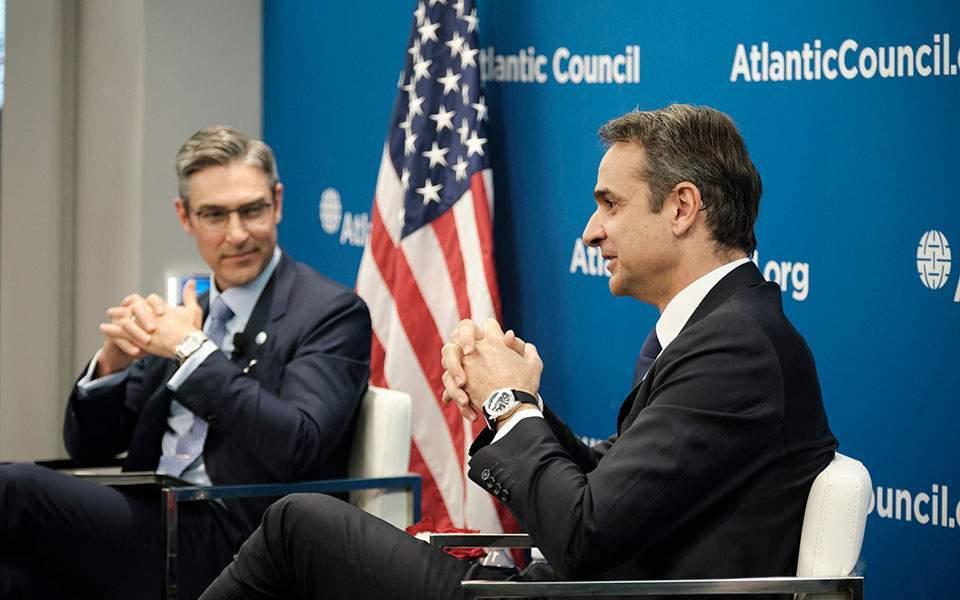 رئيس الوزراء اليوناني كيرياكوس ميتسوتاكيس- الولايات المتحدة