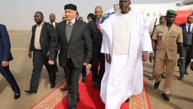 صورة رئيس مجلس النواب عقيلة صالح يصل النيجر