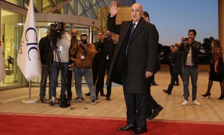 رئيس الجمهورية الجزائرية عبد المجيد تبون- مؤتمر برلين