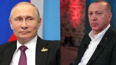 صورة أردوغان وبوتن يدعوان لوقف إطلاق النار في ليبيا