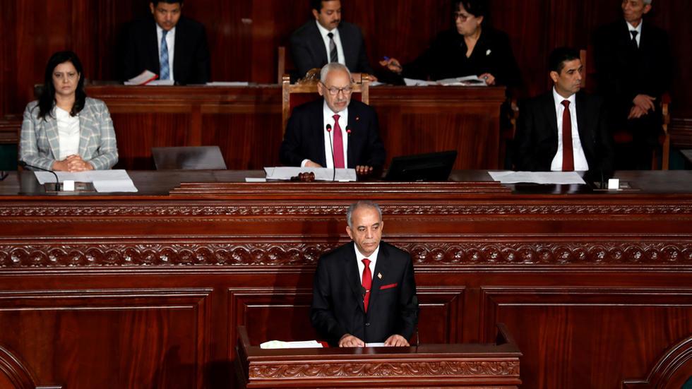 البرلمان التونسي يرفض منح الثقة لحكومة الحبيب الجملي