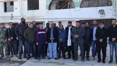 صورة وقفة احتجاجية لمكتب الشباب والرياضة بنغازي