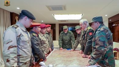 صورة القيادة العامة تطالب قادة المحاور باستمرار حالة التأهب في طرابلس
