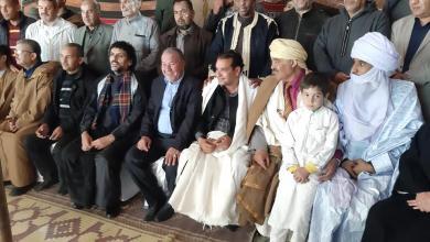 صورة وفد غرفة التجارة سبها يصل منطقة بوسعادة الجزائرية