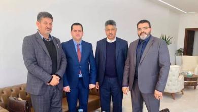 "Photo of لقاء وزير خارجية الحكومة الليبية مع ""بلدي صبراتة"""