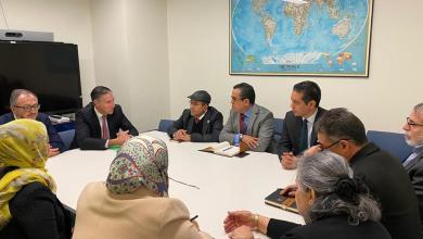 """صورة لقاءات لوفد """"مجلس نواب طرابلس"""" في نيويورك"""