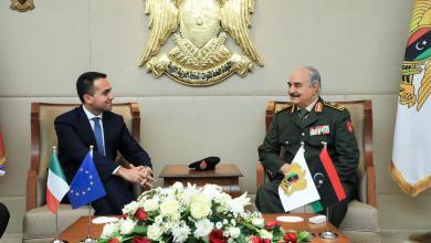 """Photo of المشير و""""دي مايو"""" يبحثان تأمين الحدود بين ليبيا وإيطاليا"""