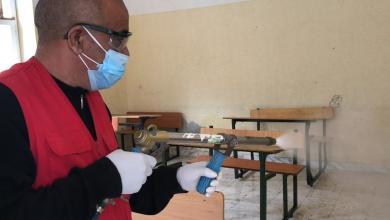 Photo of حملة لتعقيم المدرسة المركزية في صرمان