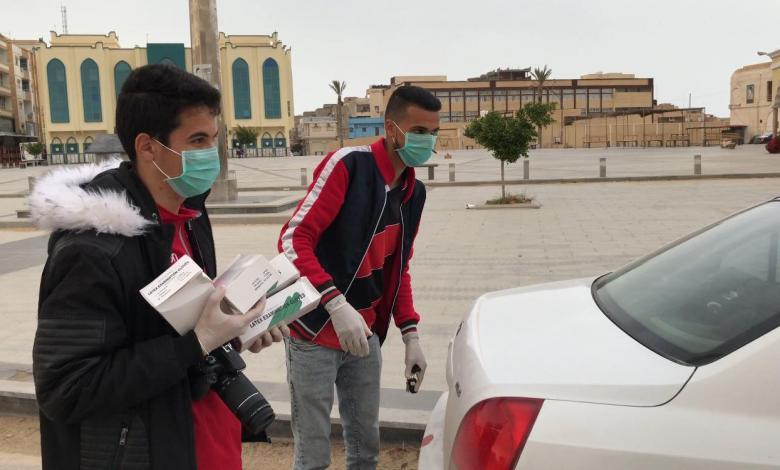 حملة توعية حول كورونا في طبرق بإشراف رابطة مشجعي الصقور