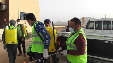 "Photo of متطوعون من بدر يقومون بحملة لتعقيم ""البدارنة"""