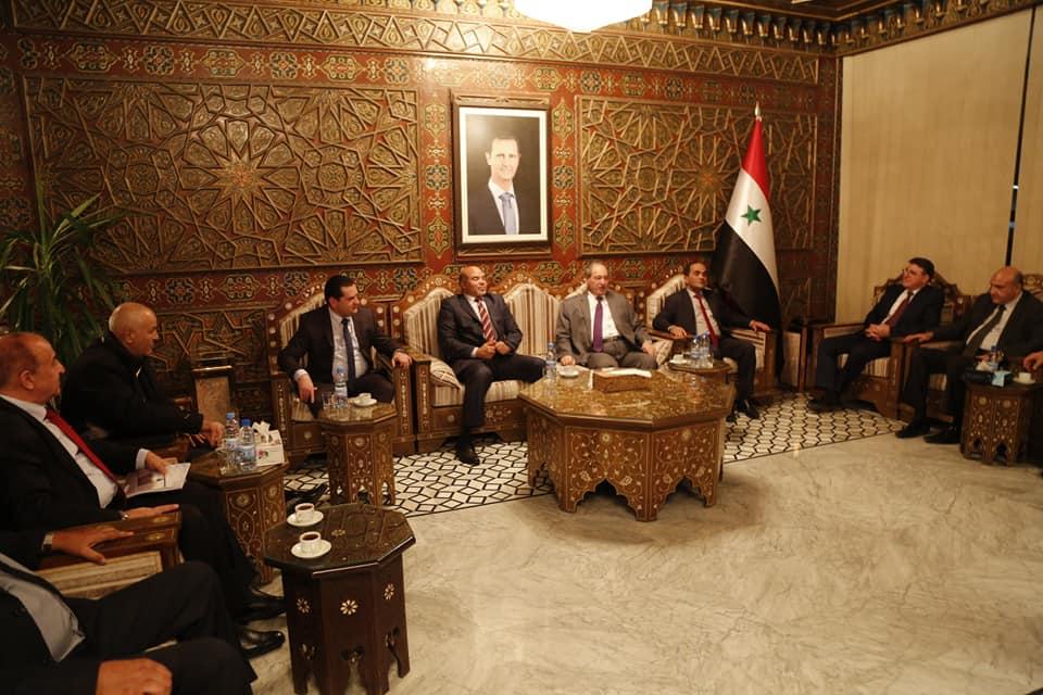 وفد رفيع من الحكومة الليبية يصل دمشق