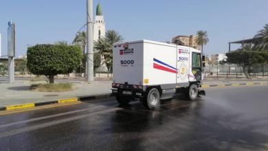 صورة حملة تطهير لشارع السامبا في طرابلس