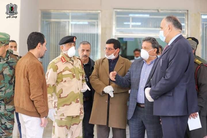 اللجنة العليا لمكافحة وباء كورونا تجري زيارة لأماكن الحجر الصحي