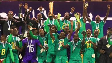 صورة منتخب السنغال بطلا لكأس العرب