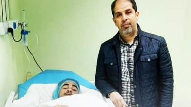 صورة لاعب الهلال أحمد شمسة يجري عملية جراحية