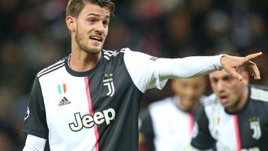 نادي يوفينتوس الإيطالي يعلن عن إصابة مدافع فريقه لكرة القدم دانييل روغاني بفيروس كورونا