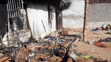 Photo of مقتل مهاجر بحريق بمركز إيواء ظهر الجبل