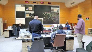 صورة الشركة العامة للكهرباء تعلن دخول محطة الخمس وتشغيلها  بالوقود الخفيف