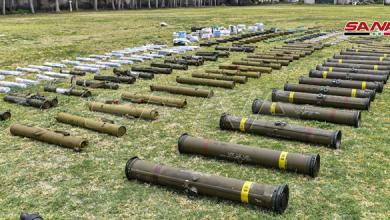 """صورة """"سانا"""": ضبط أسلحة أميركية في ريفي دمشق والقنيطرة"""
