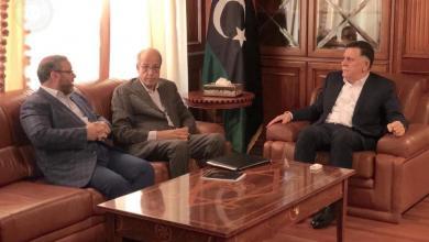 صورة المشري لــ السراج والكبير : ليبيا ليست لعبة